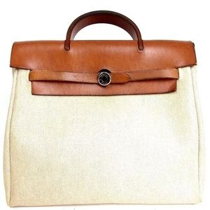 Auth HERMES Toile Ash PM E Stamp Backpack H19BP250